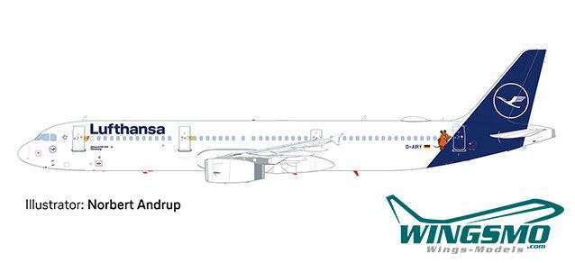 Herpa Wings Lufthansa Airbus A321 Die Maus 612432 Snap-Fit