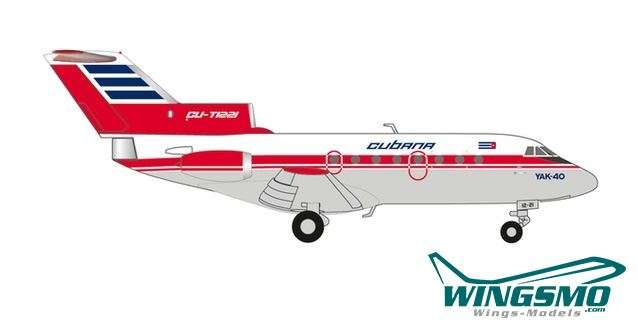 Herpa Wings Cubana de Aviacion Yakovlev Yak-40 559775