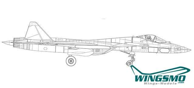 prototype White Shark SU-57 580 Herpa Wings Sukhoi Sukhoi T-50 «Белая акула»