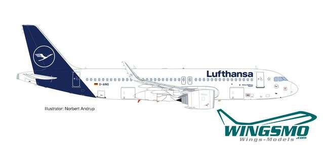 Herpa Wings Lufthansa - Rastatt Airbus A320neo new colors 559768