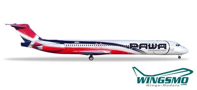 Herpa Wings PAWA Dominicana McDonnell Douglas MD-83 531603