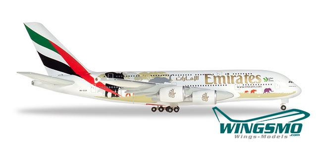 "/"" 2018 Neu Herpa 559508-1//200 Emirates Airbus A380 /""Real Madrid"