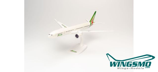 "Neu Herpa Snapfit 612555-1//200 Alitalia Boeing 777-300ER ""Roma"""